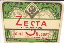 ETIQUETTE---47----SAINTE-LIVRADE--Louis HUGUET--ZESTA--citronnade--voir 2 Scans - Etiquettes