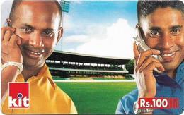 Sri Lanka - Dialog Tel. - KIT Card, Two Cricket Team Players Version #2, Prepaid 100Rs, Used - Sri Lanka (Ceilán)
