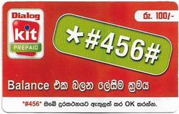 Sri Lanka - Dialog Tel. - KIT Prepaid, Balance Number #2, Prepaid 100Rs, Used - Sri Lanka (Ceilán)