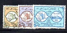 APR2350 - LIBIA 1961 ,  Serie Usata  (2380A)  OLEODOTTO - Libia