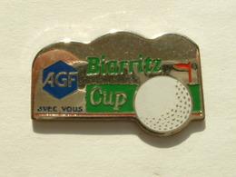 PIN'S GOLF - BIARRITZ CUP - AGF AVEC VOUS - Golf
