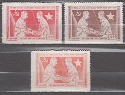 North Vietnam 1957 Mi# 64-66 40th Anniversary Of The October Revolution MNH * * 21.75 - Vietnam