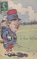 """CPA Soldat Militaire Militaria Régiment 808 ? Artillerie ? Patriotique  """"La Classe, Bon Dieu""""  Illustrateur  (2 Scans) - Patrióticos"""