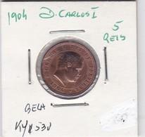 PORTUGAL COIN - D. CARLOS I - 5 REIS 1904 - Portugal