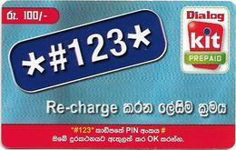 Sri Lanka - Dialog Tel. - KIT Prepaid, Recharge Number, Prepaid 100Rs, Used - Sri Lanka (Ceylon)