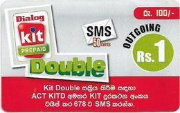 Sri Lanka - Dialog Tel. - KIT Prepaid, SMS Double, Prepaid 1Rs, Used - Sri Lanka (Ceylon)