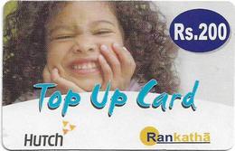 Sri Lanka - Hutchison Tel. - Curly Haired Girl, Top-Up, Prepaid 200Rs, Used - Sri Lanka (Ceylon)
