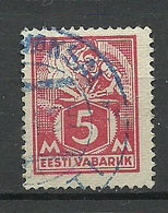 Estland Estonia 1922 Michel 37 A Violet Cancel ...-Vaksal = Bahnhof - Estland
