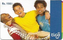 Sri Lanka - Tigo - Three Boys #1, Prepaid 150Rs, Used - Sri Lanka (Ceylon)