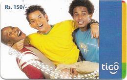Sri Lanka - Tigo - Three Boys #2, Prepaid 150Rs, Used - Sri Lanka (Ceilán)