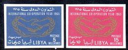 APR2356 - LIBIA 1965 ,  Serie *** MNH NON Dentellata   (2380A)  COOPERAZIONE - Libia