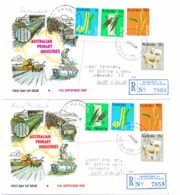 418 - 21     2  FDC - Premiers Jours (FDC)