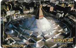 Nepal - Nepal Telecom - Easycall - Boudhanath Stupa, Kathmandu, Exp.31.12.2008, Prepaid 200Rs, Used - Nepal