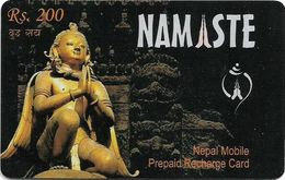 Nepal - Nepal Telecom - Namaste, Statue, Exp.31.12.2009, Prepaid 200Rs, Used - Nepal
