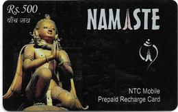Nepal - Nepal Telecom - Namaste, Statue, Exp.30.12.2007, Prepaid 500Rs, Used - Nepal
