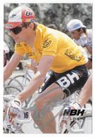 CARTE CYCLISME LAUDELINO CUBINO SIGNEE TEAM BH 1989 - Cyclisme