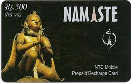 Nepal - Nepal Telecom - Namaste, Statue, Exp.31.12.2006, Prepaid 500Rs, Used - Nepal
