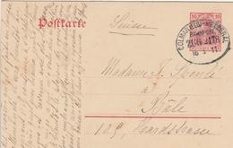 France Alsace Ambulant Colmar-Metzeral Sur Entier Postal 1911 - Alsace Lorraine