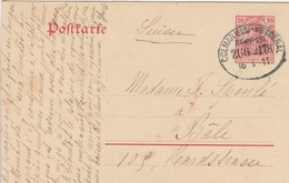 France Alsace Ambulant Colmar-Metzeral Sur Entier Postal 1911 - Postmark Collection (Covers)