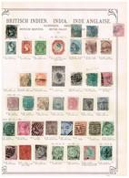Indes Anglaises Ancienne Collection Sur Feuilles D'époque - Collections (without Album)