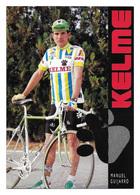 CARTE CYCLISME MANUEL GUIJARRO TEAM KELME 1989 - Cyclisme