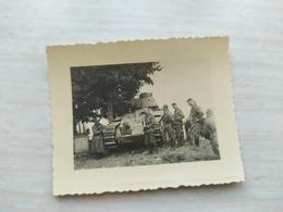 WWII Foto WEHRMACHT SOLDATEN Kampfwagen  Panzer Frankreich  2WK - 1939-45