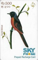 Nepal - Nepal Telecom - Birds, Scarlet Minivet, Exp.31.08.2009, Prepaid 500Rs, Used - Nepal