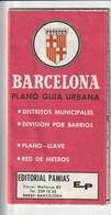 BARCELONA - PLANO GUIA URBANA - 1985 - Callejero