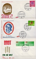 Germany 3 FDCs From 1972 - [7] Federal Republic