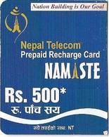 Nepal - Nepal Telecom - Namaste - Blue, Exp.31.12.2011, Mini Prepaid 500Rs, Used - Nepal