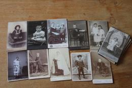 Lot  De Cdv D'enfants Vers 1900 - Photographs