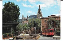 Cpsm Mallorca . Soller . Entrada Al Pueblo . - Mallorca