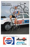 CARTE CYCLISME MAURO SANTAROMITA TEAM PEPSI 1989 - Cyclisme
