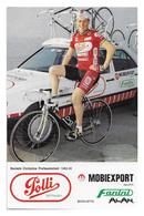 CARTE CYCLISME ANTEO PETACCO TEAM POLLI 1989 - Cyclisme