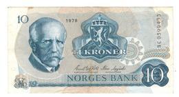 Norway, 10 Kr. 1978, VF/XF. - Norway