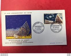 FRANCE FDC 1963 Premier Jour Radio Télescope Nancay 8 JUIN 1963 - FDC