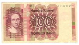 Norway, 100 Kr. 1981, Crisp VF+ - Norvegia