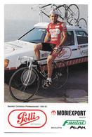 CARTE CYCLISME EDDIE SALAS TEAM POLLI 1989 - Cyclisme