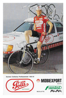 CARTE CYCLISME ANTONIO FANELLI TEAM POLLI 1989 - Cyclisme
