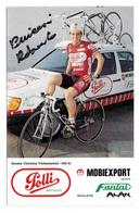 CARTE CYCLISME ROBERTO PELLICCONI SIGNEE TEAM POLLI 1989 - Cyclisme