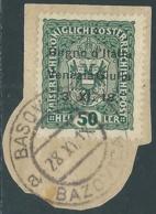1918 VENEZIA GIULIA USATO 50 H - UR28 - 8. WW I Occupation