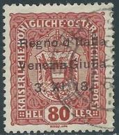 1918 VENEZIA GIULIA USATO 80 H - UR30-9 - 8. WW I Occupation