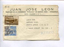ENVELOPE COMMERCIAL CIRCULATED FROM QUITO, ECUADOR A BUENOS AIRES, ARGENTINA CIRCA 1960. AEREO, AIR MAIL -LILHU - Equateur