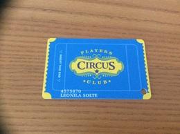 """Carte De Casino Magnétique * """"PLAYERS CIRCUS CLUB"""" LAS VEGAS - USA - Casino Cards"""