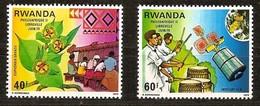 Rwanda Ruanda 1979 OBCn° 917-918 *** MNH  Cote 3,50 Euro Philexafrique II - Rwanda