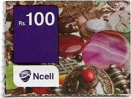 Nepal - Ncell - Colourful Buttons, Mini Prepaid 100Rs, Used - Nepal