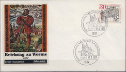 Germany Luther Stamp On FDC From 1971 - Cristianesimo