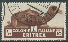 1933 ERITREA USATO SOGGETTI AFRICANI 10 CENT - UR31-3 - Eritrea