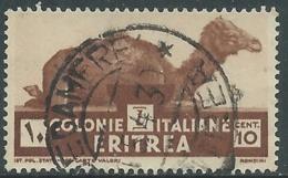 1933 ERITREA USATO SOGGETTI AFRICANI 10 CENT - UR31-4 - Eritrea