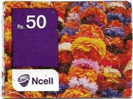 Nepal - Ncell - Decoration Ornaments, Mini Prepaid 50Rs, Used - Nepal